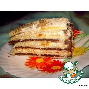 "Рецепт: Слоеный торт ""Халвинка"""