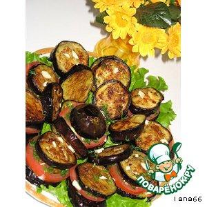 Рецепт: Баклажано-помидорные столбики