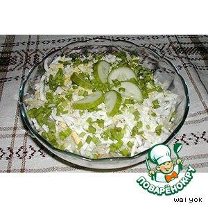 Рецепт: Салат слоеный с лососем