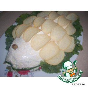 Рецепт: Салат Рыбка