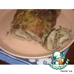 Рецепт: Свиной рулет с начинкой