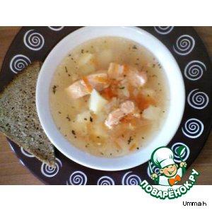 Суп с форелью классический