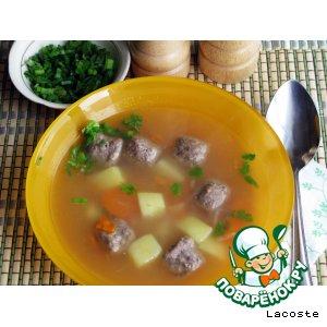 Рецепт: Картофельный суп с фрикадельками