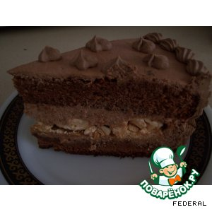Рецепт: Торт Шоколадное чудо