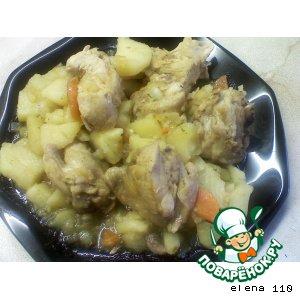 Рецепт: Рагу из курицы и овощей
