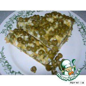 Рецепт: Яичница с зеленым горошком