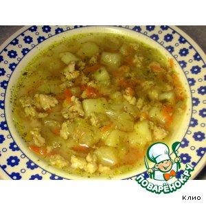 Куриный суп с молодой капустой