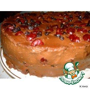 Рецепт: Шоколадно-вишнево-черничный торт