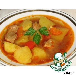 Рецепт: Картофельный суп дня
