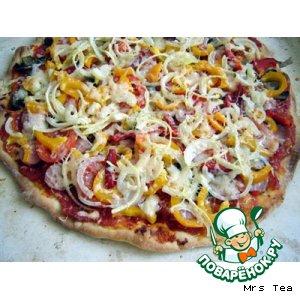 Рецепт: Пицца овощная