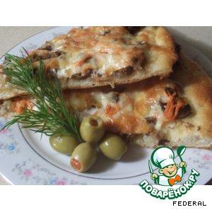 Рецепт: Тесто для пиццы и пицца