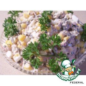 Рецепт: Салат с морской капустой и тунцом