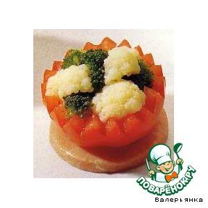 Рецепт: Короны из помидоров