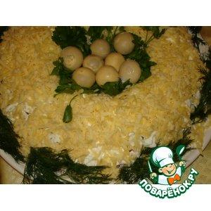Рецепт: Салат Птичье гнездо