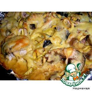 Рецепт: Скумбрия, запеченная под сыром