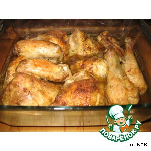 Рецепт: Запеченная курица в маринаде