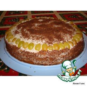 Рецепт: Сметанно-ореховый торт