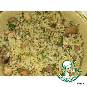 Рецепт: Бухарский зеленый плов Бахш