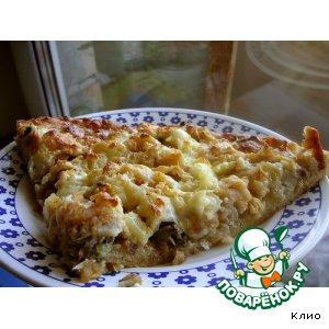 Рецепт: Пицца с яблоками и копченой рыбой