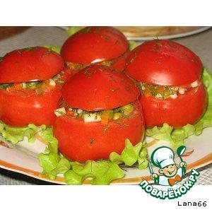 Рецепт: Помидоры, фаршированные овощной смесью