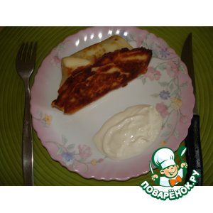 Рецепт: Сосиски в блинчике
