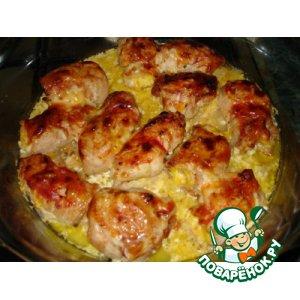 Рецепт: Куриные рулетики с сыром