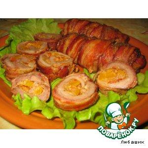 Рецепт: Рулеты из свинины в беконе