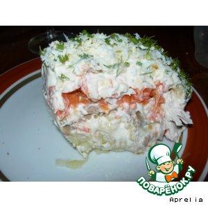 Рецепт: Салат слоеный курино-грибной
