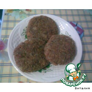 Meatballs from buckwheat