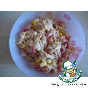 Рецепт: Крабовый салат для любителей здорового питания