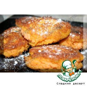 Рецепт: Морковно-яблочные оладьи с изюмом