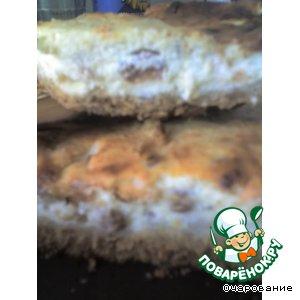 Рецепт: Пирог творожный с изюмом