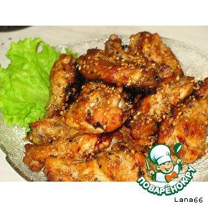 Рецепт: Куриные крылышки Oт бабули