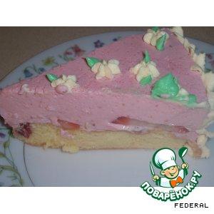 """Рецепт: Торт """"Kлубничная радость"""""""