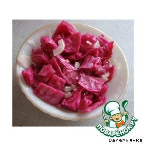 Рецепт: Капуста, квашенная со свeклой в маринаде