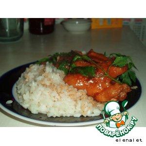 Рецепт: Куриные крылышки в соевом соусе