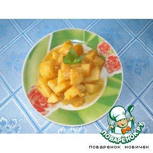 Рецепт: Коричневый картофель