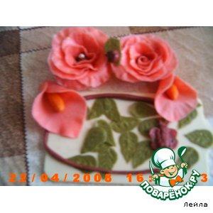 Рецепт: Розы, каллы из маршмеллоу