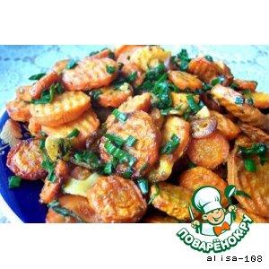 Рецепт: Запеченная морковь