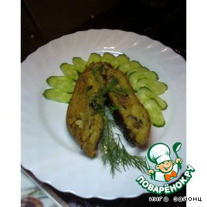 Рецепт: Картофельный рулет с шампиньонами