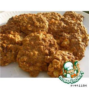 Рецепт: Овсяное печенье домашнее