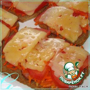 Рецепт Горячие бутерброды с корейской морковью