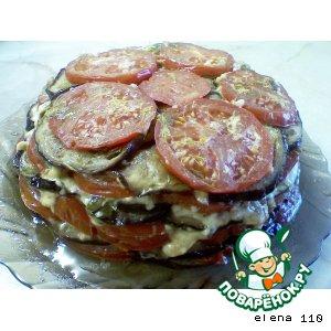 Рецепт: Баклажановый торт Объедение