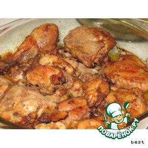 Рецепт: Экзотическая курица в кофе