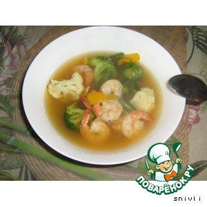 Рецепт: Диетический суп на морепродуктах