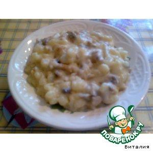 Рецепт: Картофель с грибами по-деревенски