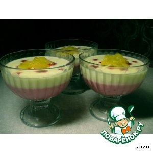 Рецепт: Бруснично-манговый десерт