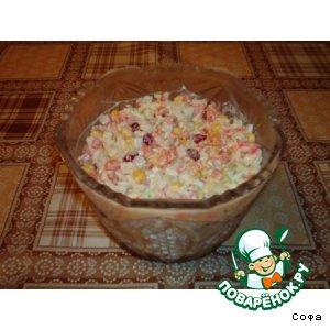 Рецепт: Салат из крабовых палочек