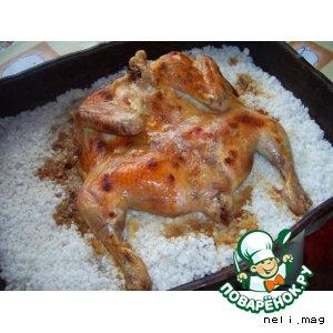 Рецепт: Курица жареная