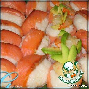Рецепт: Полу-суши и недо-роллы